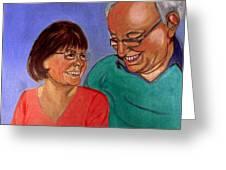Samson And Delia Greeting Card