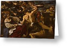 Samson Captured By The Philistines Greeting Card