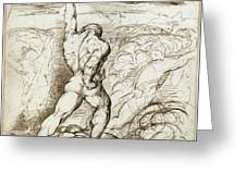 Samson Slaying The Philistines With The Jawbone Of An Ass Greeting Card