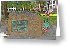 Samuel Adams Gravestone At Granary Burying Ground In  Boston-massachusetts Greeting Card