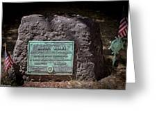 12- Samuel Adams Tombstone In Granary Burying Ground Eckfoto Boston Freedom Trail Greeting Card