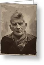 Samuel Beckett 2 Greeting Card