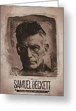 Samuel Beckett 01 Greeting Card