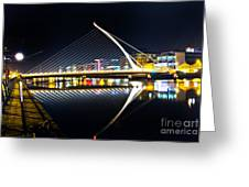 Samuel Beckett Bridge 3 Greeting Card