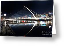 Samuel Beckett Bridge 3 V2 Greeting Card