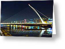 Samuel Beckett Bridge 4 Greeting Card