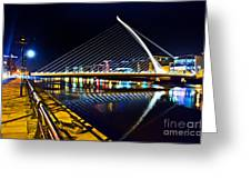 Samuel Beckett Bridge 5 Greeting Card
