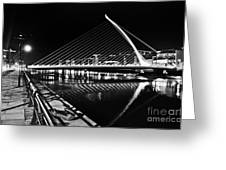 Samuel Beckett Bridge 5 Bw Greeting Card