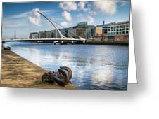 Samuel Beckett Bridge, Dublin, Ireland Greeting Card