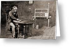Samuel Morse And Telegraph, 19th Century Greeting Card