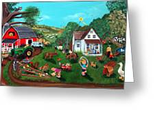 Samuels Alaphabet Farm Greeting Card