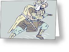 Samurai Warrior Greeting Card by Aloysius Patrimonio