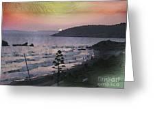 San Adeodato Sunset Greeting Card