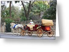 San Antonio Carriage Greeting Card
