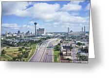 San Antonio City View -color Canvas Print Greeting Card