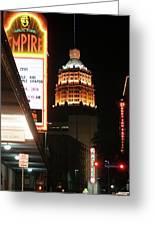 San Antonio Downtown Night Greeting Card