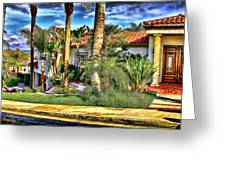 San Clemente Estate 3 Greeting Card by Kathy Tarochione
