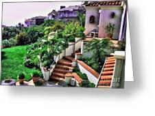 San Clemente Estate Backyard Greeting Card