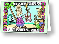 San Clemente Ocean Festival Tiki Greeting Card
