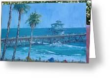 San Clemente Pier Greeting Card by Bryan Alexander