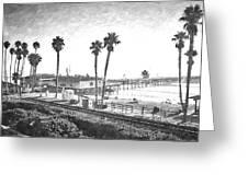 San Clemente Pier California Greeting Card