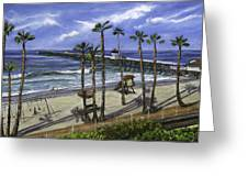 San Clemente Pier Greeting Card by Lisa Reinhardt