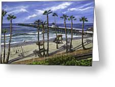 San Clemente Pier Greeting Card by Lisa Reinhardt