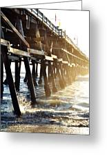 San Clemente Pier Magic Hour Greeting Card