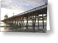 San Clemente Pier Sunset Greeting Card