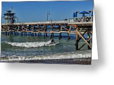 San Clemente Surfing Greeting Card