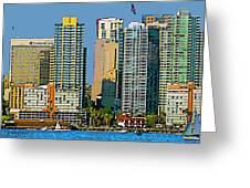 San Diego Downtown Living - Bayside Greeting Card