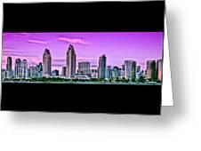 San Diego Panorama Greeting Card