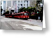 San Diego Red Trolley Greeting Card