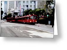 San Diego Red Trolley Greeting Card