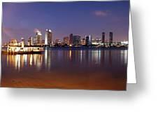 San Diego Skyline Greeting Card