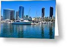 San Diego South Park Marina Greeting Card