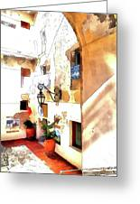 San Felice Circeo Foreshortening Greeting Card
