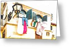 San Felice Circeo Put Clothes Greeting Card