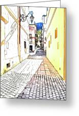 San Felice Circeo Street Greeting Card