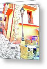San Felice Circeo Strret Lamp Greeting Card