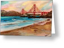San Francisc Bridge Greeting Card