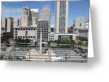 San Francisco . Union Square . 5d17938 Greeting Card