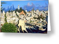 San Francisco 1906 - Modern Art Greeting Card