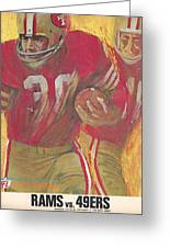 San Francisco 49ers Vintage Program 2 Greeting Card