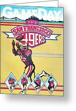 San Francisco 49ers Vintage Program Greeting Card