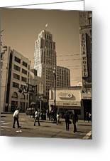 San Francisco Architecture, 2007 Sepia Greeting Card