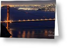 San Francisco At Night Greeting Card