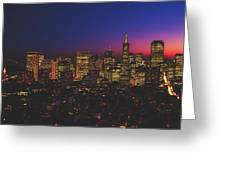 San Francisco At Sunset Greeting Card