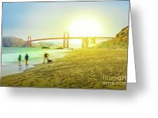 San Francisco Baker Beach Greeting Card