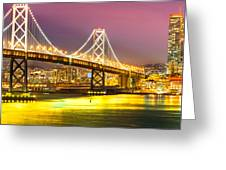 San Francisco - Bay Bridge Greeting Card